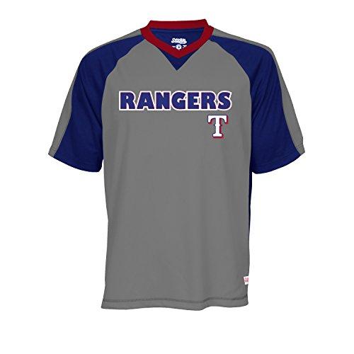 MLB Texas Rangers Men's V-Neck Charcoal Heather Top, Charcoal Heather, XX-Large (Texas Rangers compare prices)
