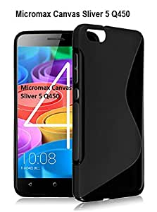 Micromax Canvas Sliver 5 Q450 S Line Soft Gel TPU Anti-skid Back Case Cover