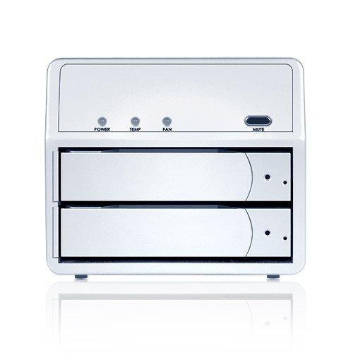 Sans Digital MS2T+ MobileSTOR 2 Bay SATA to eSATA JBOD Hard Drive Storage Enclosure (Silver)