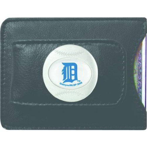 MLB Detroit Tigers Leather Money Clip