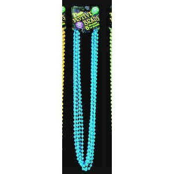 Glow-in-the-Dark Neon Blue Beads
