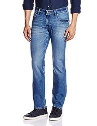 Wrangler Men's Straight Fit Jeans (8907222410339_WRJN1137E_34W x 33L_Super Dark Indigo)