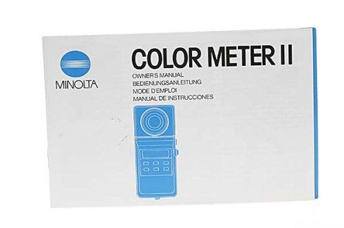 Minolta Color Meter II Instruction Manual (Minolta Color Meter compare prices)