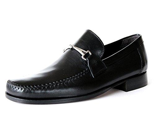 Bruno-Magli-PORFIRIO-Smooth-leather-Loafer-Mens-Dress-Shoes-Slip-on-Black