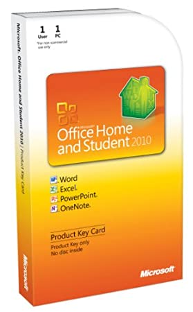 Microsoft Office Home & Student 2010 Key Card - 1PC/1User