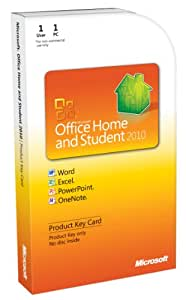 Microsoft Office Home & Student 2010 Product Key Card