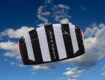Sigma Fun, Ready to fly, Lenkdrachen von Elliot 1,6 Schwarz/Weiß by Elliot günstig kaufen