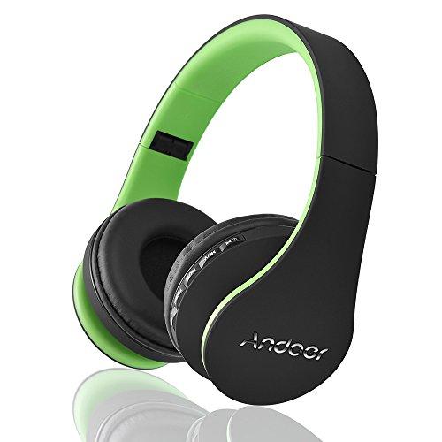 Andoer LH-811 Auricolare 4 in 1 Multifunzionale Wireless Bluetooth 3.0 + EDR per Cuffie e Auricolare con Microfono Wired Vivavoce verde per iPhone 6S 6S Inoltre Samsung S6 S5 nota 5 4 laptop