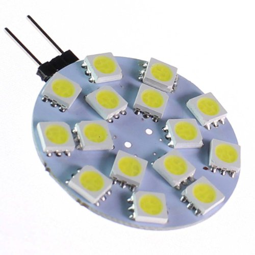 Heinside Energy Saving G4 15 Smd 5730 Led 370Lm 4W Corn Light Lamp Bulb Transparent Cover Cool White