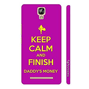 Enthopia Designer Hardshell Case Finish Daddy's Money Back Cover for Gionee Marathon M5 Plus