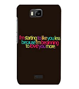 Fuson 3D Printed Quotes Designer back case cover for Huawei Honor Bee - D4529