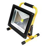 【充電式】 LED投光器 50w/500w相当 バッテリー内蔵 3電源 ポータブル 省エネ エコ 防水 広角 昼光色 強化ガラス 長寿命 6000K/IP65