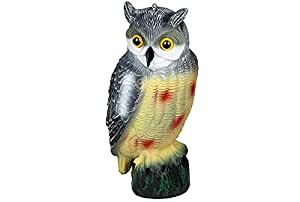 Realistic decoy owl bird scarer deterrent for Owl fish store