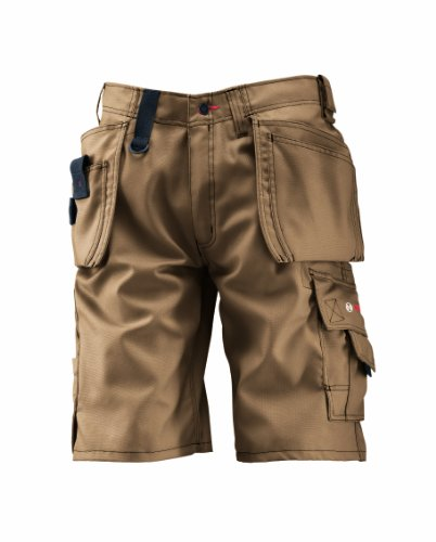 Bosch WHSO 05 - Pantaloni professionali con tasche esterne, vita 102 cm, beige