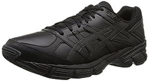 ASICS Men's Gel-190 TR Training Shoe, Black/Black/Silver, 9.5 4E US