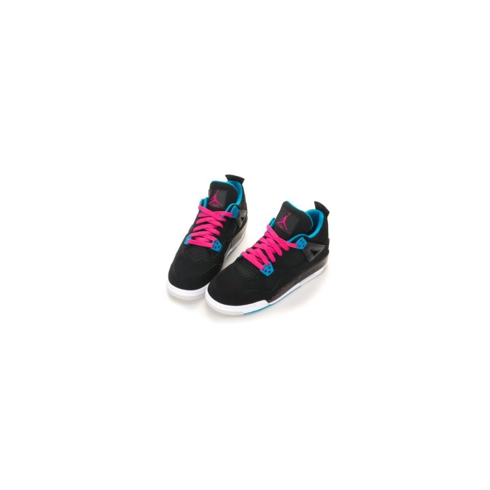 27fde8f255c3 Nike Air Jordan 4 Retro (GS) Girls Basketball Shoes 487724 019 on ...