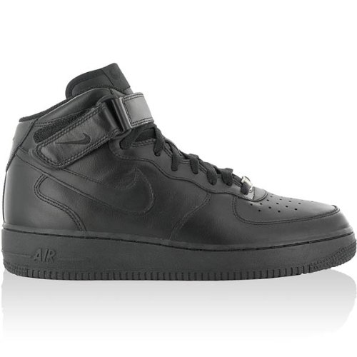 Nike - Force 1 Mid 07 - Color: Black - Size: 14.0Us