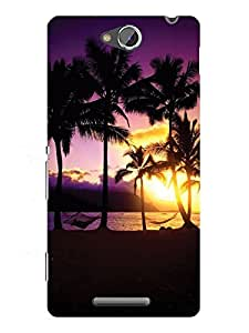 TREECASE Designer Printed Hard Back Case Cover For Sony Xperia C S39H