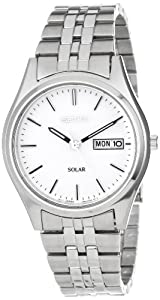 Seiko Men's SNE031 Stainless Steel Solar Watch