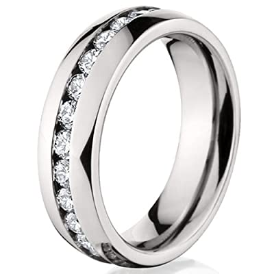 6MM Eternity Ring, Titanium Wedding Band, Titanium Rings For Women: Rumors Jewelry Company: Jewelry