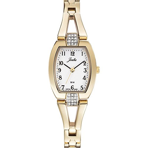Joalia-631943-Orologio da donna con cinturino quadrante, in metallo dorato