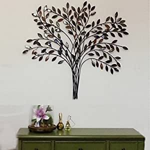Metal wall art wall decor the retro style tree wall decor poste - Decoration mural en metal ...