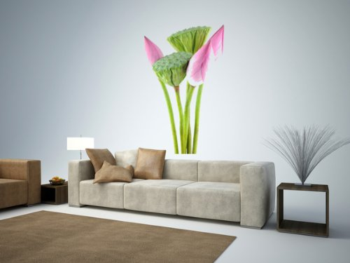 Wall Decals Lotus Flowers and Pods