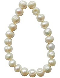 Tennessee Crafts 4032 Pearls White Pearl Potato 9 By 10mm Beads, 20-Piece