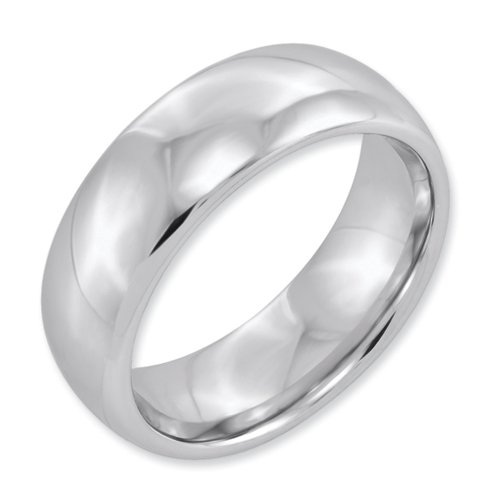 White Dura Tungsten 7mm Polished Band Size 13
