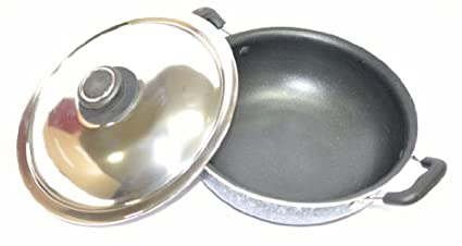 Tosaa-T32K12-Cookware-Kadhai-With-Lid-(22.5-cm)