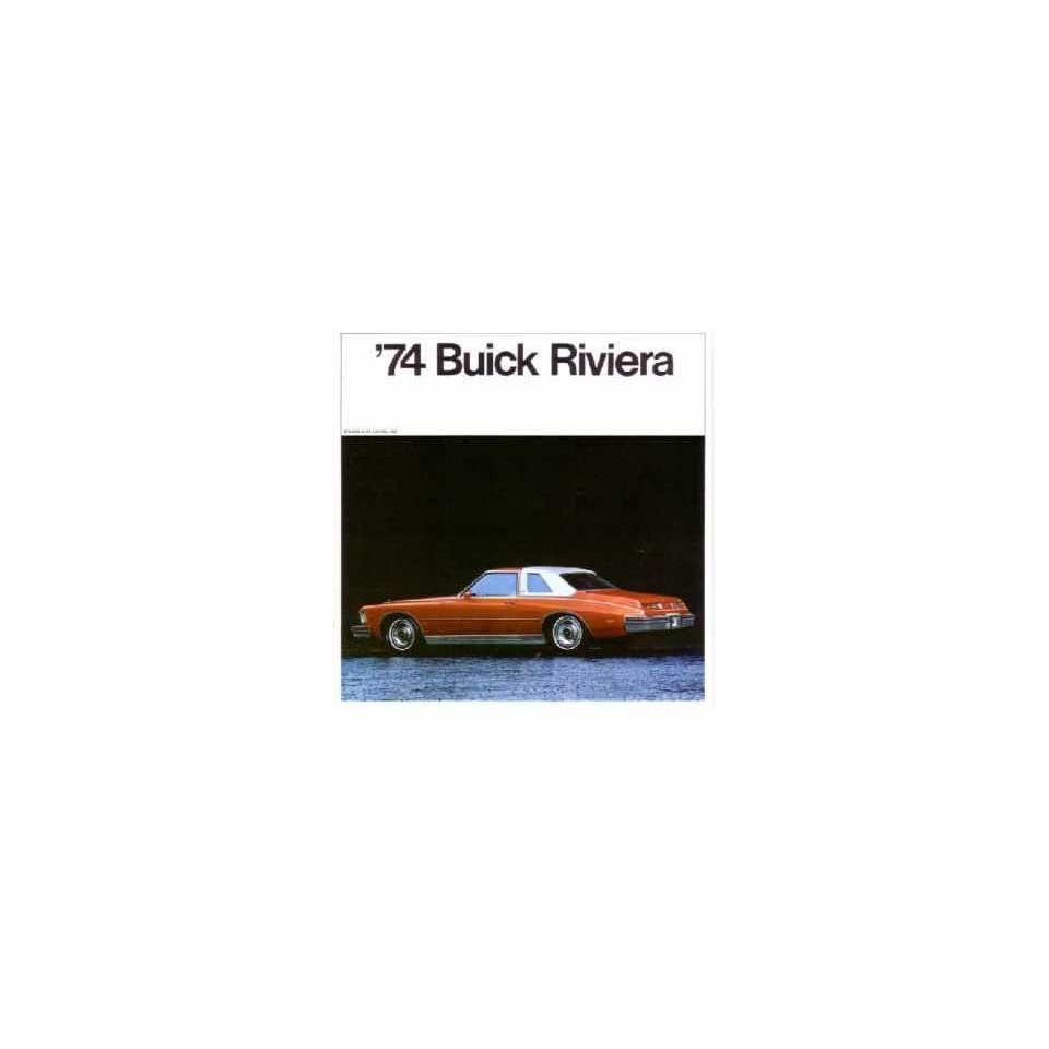 1974 BUICK RIVIERA Sales Brochure Literature Book Piece