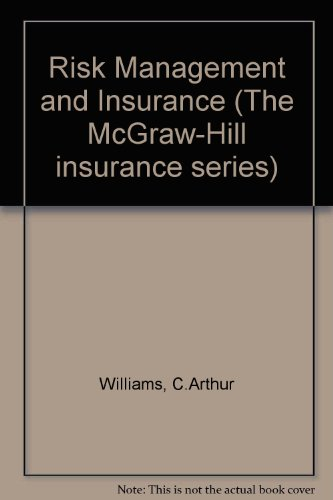 Risk Management and Insurance (Mcgraw-Hill Insurance Series) PDF