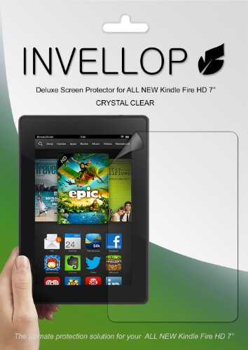 #>>  INVELLOP CRYSTAL CLEAR 3-pack Screen protectors for ALL NEW Kindle Fire HD 7 7