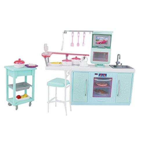 Casa delle bambole di plastica del gioco della cucina for Casa barbie prezzi