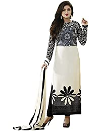 Jashvi Creation Women's Printed Unstitched Regular Wear Dress Material (Black_Dress_1056)