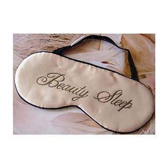 Lily's Design Sexy BEAUTY SLEEP Eyemask Silk Eye Blinds Eye Mask White with Black Lace around