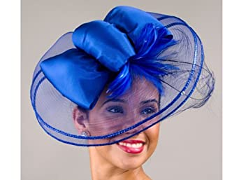 Fascinators Cocktail Hat - Royal Blue