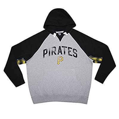 Mens MLB Athletic Pullover Hoodie: PITTSBURGH PIRATES