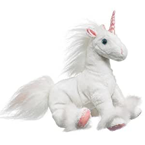 "Wildlife Artists White Unicorn Plush Stuffed Toy 8"" High"