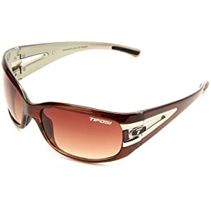 Tifosi Women's Lust Sport Sunglasses,Sage Wood Frame/Brown Gradient Lens,one size