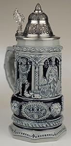 Thewalt by King Stein Of Kings Full Relief Authentic German Beer Stein by King Werke Germany (aka King Werks / King-Works)