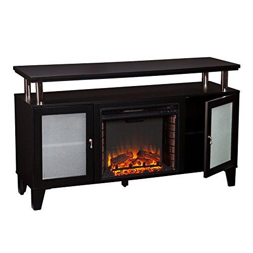 Southern Enterprises Canterbury Media Fireplace, Black