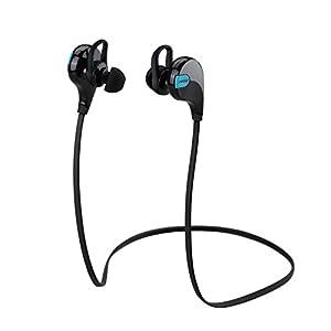 Mpow Swift Auriculares Eestéreo Bluetooth 4.0 para Correr, Cascos Deportivos y Resistente al Agua y Audor. con Tecnología aptX Avanzada para iPhone, iPad, Samsung, PC y otros Teléfonos Inteligentes - Color Negro
