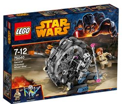 "LEGO Star Wars - General Grievous' Wheel Bike - 75040 (Lego Star Wars 5702015121187) ""Stop General Grievous' Wheel BikeTM before he gets away!Beneath the planet surface of UtapauTM, Obi-Wa..."