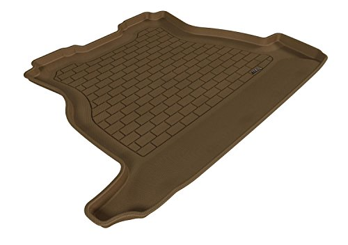 Tan 3D MAXpider Cargo Custom Fit All-Weather Floor Mat for Select Hyundai Santa Fe Sport Models Kagu Rubber