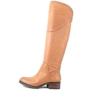 Lucky Brand Harleen Women US 7.5 Tan Over the Knee Boot