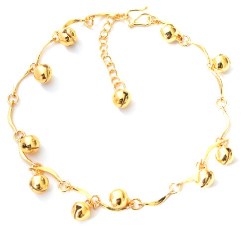 Gold Bells Charms Anklet/Ankle Bracelet