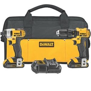 Buy Bargain DEWALT DCK280C2 20-Volt Max Li-Ion 1.5 Ah Compact Drill and Impact Driver Combo Kit