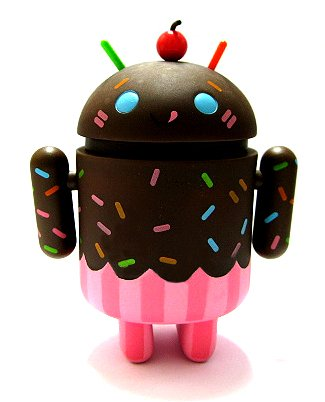 Android Mini Collectible Series 02 Chocolate Cupcake ?/?? Ratio Vinyl Mystery Variant Toy Robot Figure