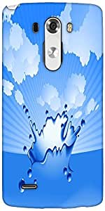 Snoogg Clear Water Splash Vector Designer Protective Back Case Cover For LG G3